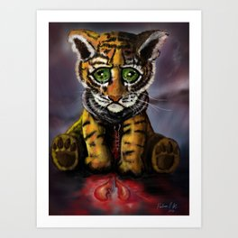 Sad Baby Tiger Art Print