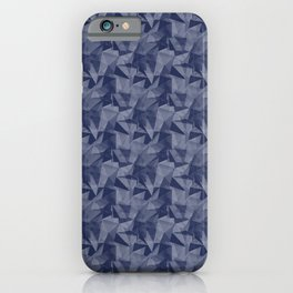 Pantone Blue Depths 19-3940 Abstract Geometrical Triangle Patterns 2 iPhone Case
