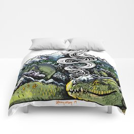 Mountain Dragon Comforters