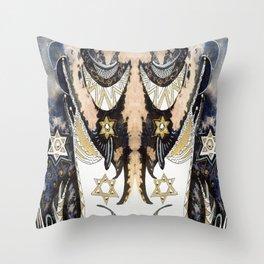 Sleepy Starbird Throw Pillow