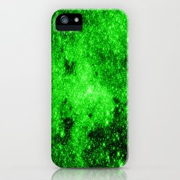 galaxy Stars 3 Bright Green iPhone Case