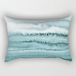 WITHIN THE TIDES - OCEAN TEAL Rectangular Pillow