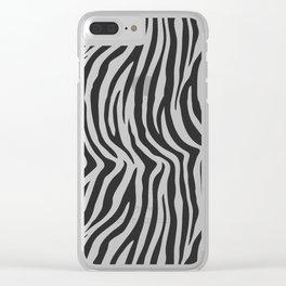 Zebra Stripes Wild Animal Print Clear iPhone Case