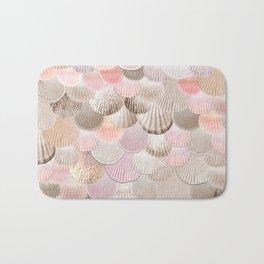 MERMAID SHELLS - CORAL ROSEGOLD Bath Mat