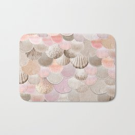 MERMAID SHELLS - CORAL ROSEGOLD Bath Mat