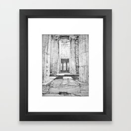 The Temple of Hephaestus in the Agora, Athens, Greece Framed Art Print