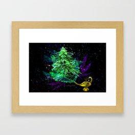Magic Lamp Ganja Framed Art Print