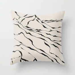 Mountains know the secret III Throw Pillow