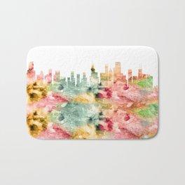 Chicago City Skyline Illinois Bath Mat