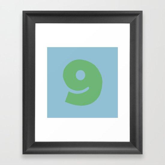 Number 9 Framed Art Print