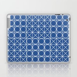Geometric Tile Pattern Blue Laptop & iPad Skin