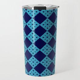 blue crochet crafts Travel Mug