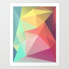 geometric V Art Print