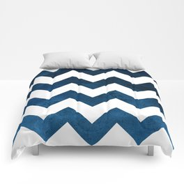 Indigo Chevron Comforters
