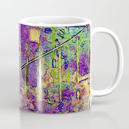 Staircase with lavender in Ramatuelle, near St.Tropez in France Coffee Mug