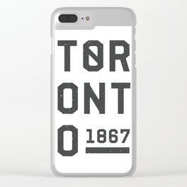 1867 TORONTO Clear iPhone Case
