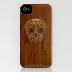 Wooden Sugar Skull iPhone (4, 4s) Slim Case
