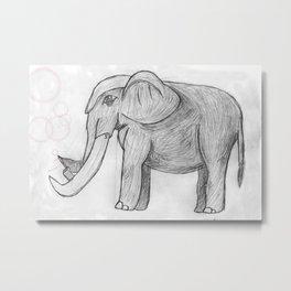 Elephant bubbles Metal Print