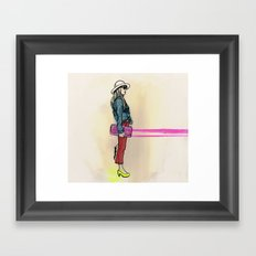 never hate neon color Framed Art Print