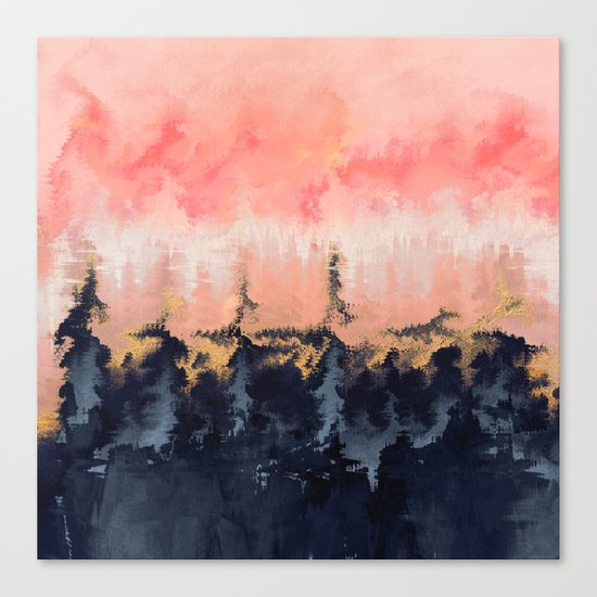 Abstract Wilderness Canvas Print