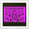 Papel Picado - Pink + Black by valtheartist