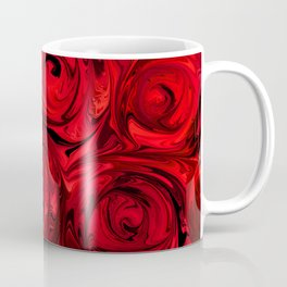Red Apple Roses Abstract Coffee Mug