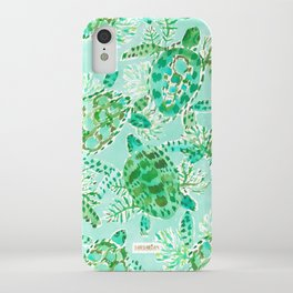 TURTLE FLOAT Watercolor iPhone Case