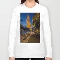 pittsburgh Long Sleeve T-shirts featuring PITTSBURGH FALL by Stephanie Bosworth