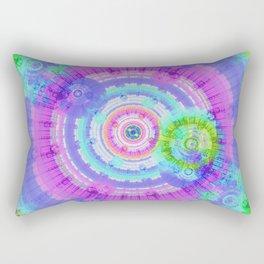 Circling the Blue Rectangular Pillow