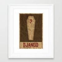 django Framed Art Prints featuring Django by Jacob Wise