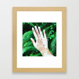 Henna in the Ferns Framed Art Print