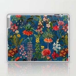 Vintage & Shabby Chic - Blue Midnight Spring Botancial Flower Garden Laptop & iPad Skin