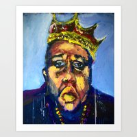 biggie Art Prints featuring Biggie by Larry Caveney