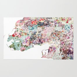 La Rochelle map Rug