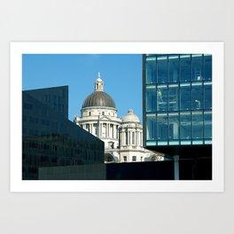 Liverpool skyline Art Print