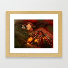 Fox of fire Framed Art Print