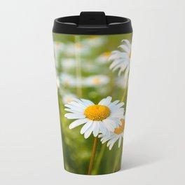 Camomile Summer Meadow Sunny Day Metal Travel Mug
