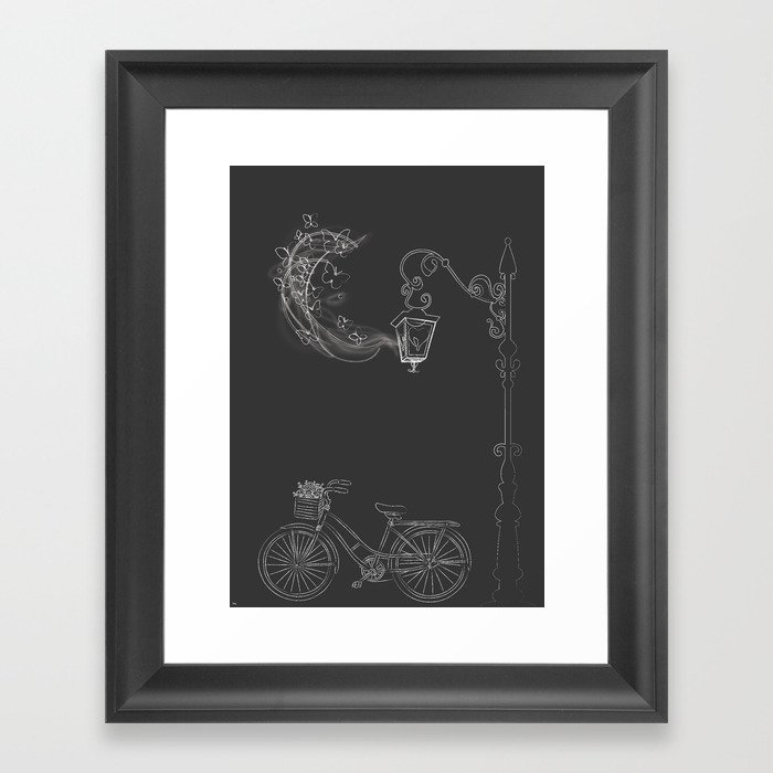Under the Lamp Framed Art Print