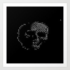 Triangular Skull Art Print