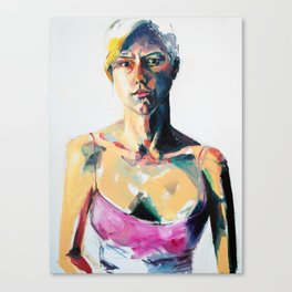 Portrait of Eileen Grogan Canvas Print