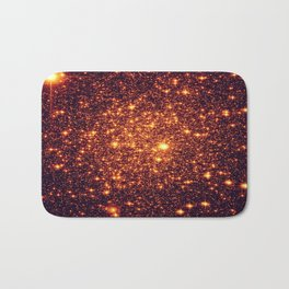 Copper Bronze Glitter Stars Bath Mat