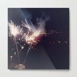 Sparkling light Metal Print