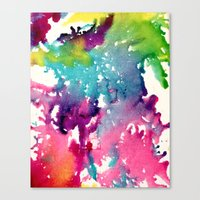 splatter Canvas Prints featuring Splatter by Laurenlotz