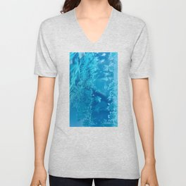 Hoar Frost Ice Crystals Unisex V-Neck