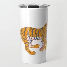 Running Bengal Tiger Travel Mug