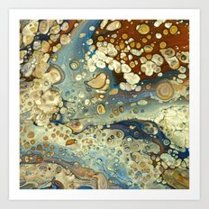 Brown and blue (2) Art Print