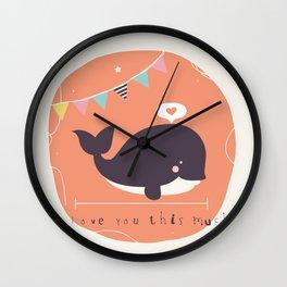 Wanda Whale Wall Clock