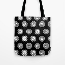 Black and white Hmong elephant Tote Bag