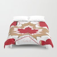 canada Duvet Covers featuring O' Canada by Azabella Rose Adamora