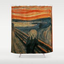 The Scream by Edvard Munch, circa 1893 Shower Curtain